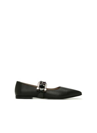 Divarese Divarese 5024215 Kadın Deri Ayakkabı Siyah